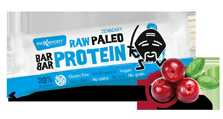 MAX SPORT Paleo Raw Protein BarBar Zenberry 50g