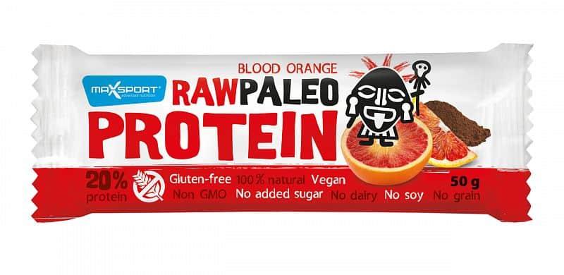 MAX SPORT Paleo Raw Protein Bar Blood Orange 50g