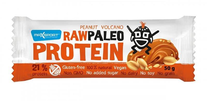 MAX SPORT Paleo Raw Protein Bar Peanut Volcano 50g