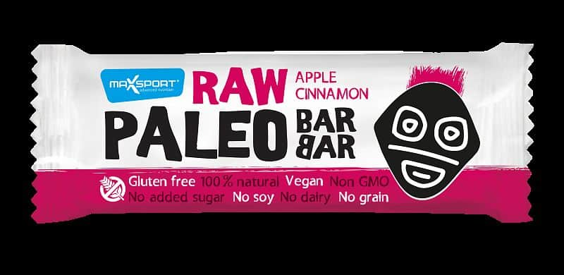 MAX SPORT Paleo Raw BarBar Apple Cinnamon 50g