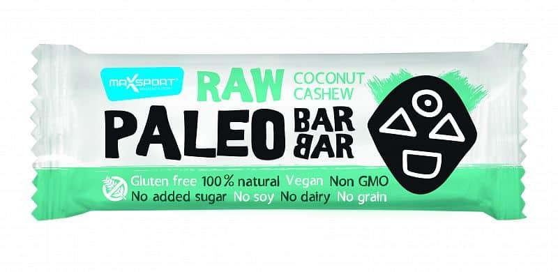 MAX SPORT Paleo Raw Barbar Cashew- Cocos 50g