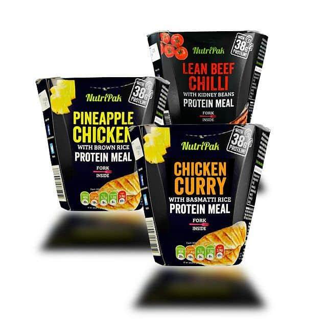Proteinové jídlo NutriPak 300g kuřecí na kari s basmati rýží