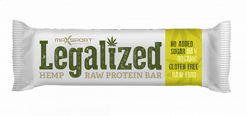 MAX SPORT Legalized Hemp Raw Protein Bar Konopná 42g