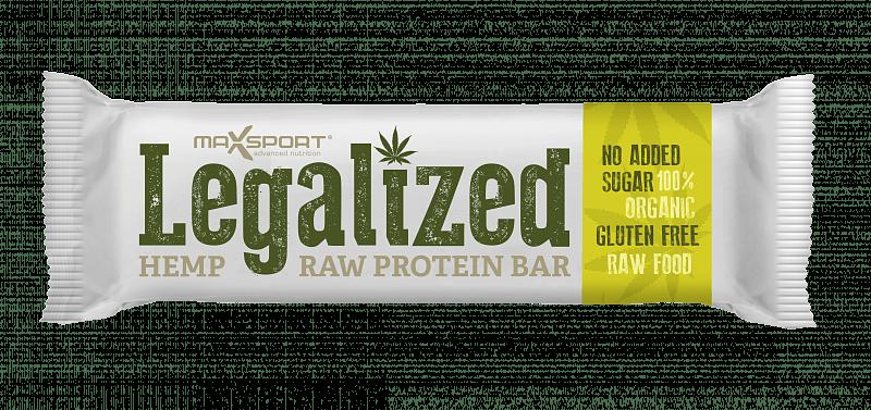 MAX SPORT Legalized Hemp Raw Protein Bar Konopná 42g