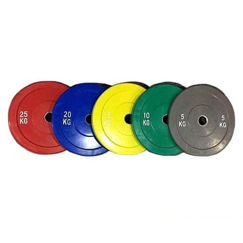 Bumper Plate Elite Color sada odhazovacích kotoučů 150kg MUSASHI