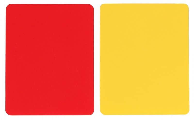 karty pro rozhodčí červená + žlutá balení: 1 sada
