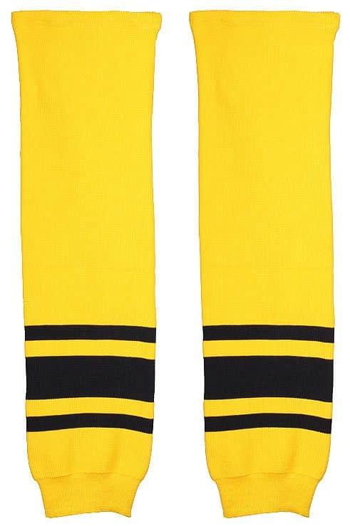 Malše hokejové štulpny žák barva: žlutá-černá;balení: 1 pár