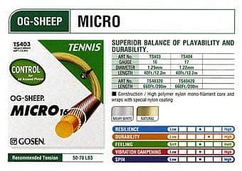 OG Sheep Micro tenisový výplet  200m