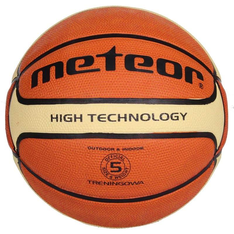 Training brown/cream basketbalový míč