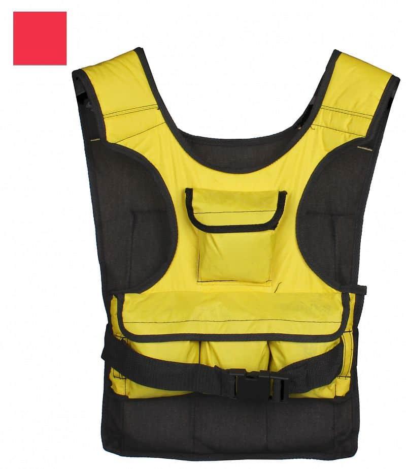 zátěžová vesta LS3057 5 kg, 10 kg 10 kg;žlutá