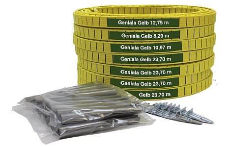 umělé lajny Geniala šíře 4 cm nebo 5 cm žluté 5 cm;žlutá