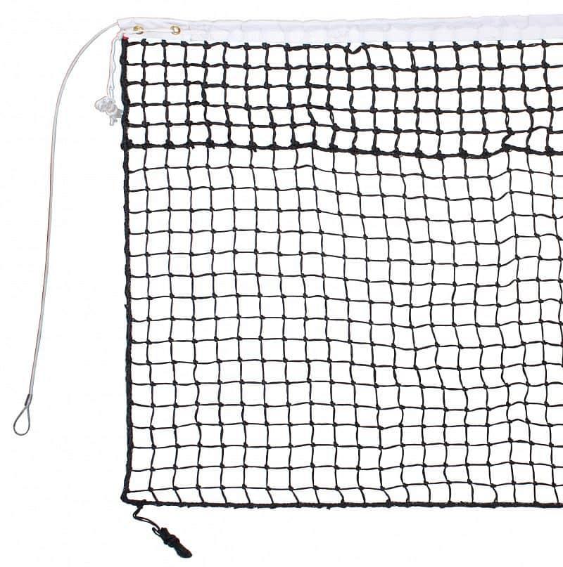 tenisová síť TN 30 D dvojitá, lanko černá