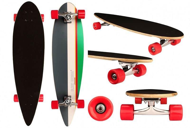 longboard Tropical Funk skateboard 36in oranžová Black Dragon