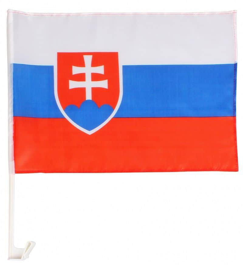 vlajka na okno auta Slovenská republika