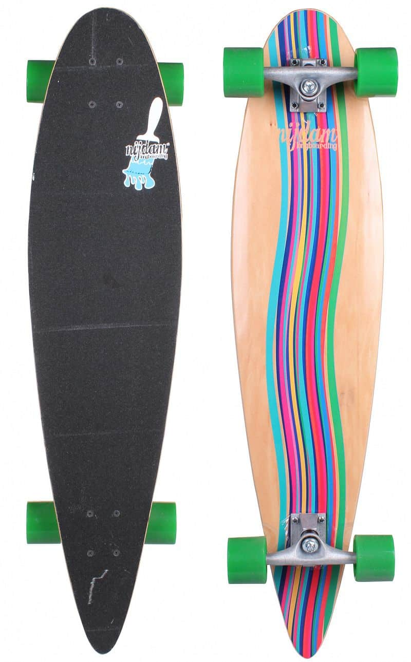 longboard Green Vortex skateboard 39in Nijdam