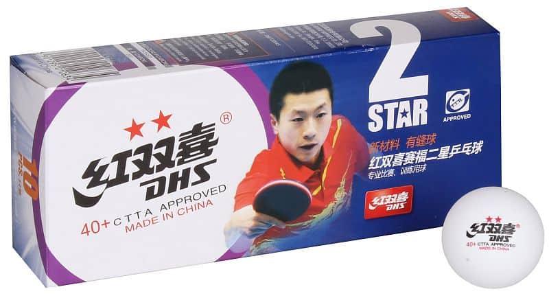 míčky na stolní tenis 40+ 2 hvězdy sada 10ks, plastové 10 ks;bílá