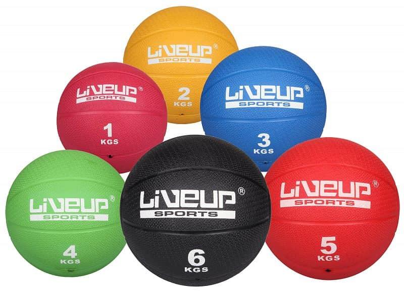 medicine ball A-type medicinální míč, plastový 6 kg;černá