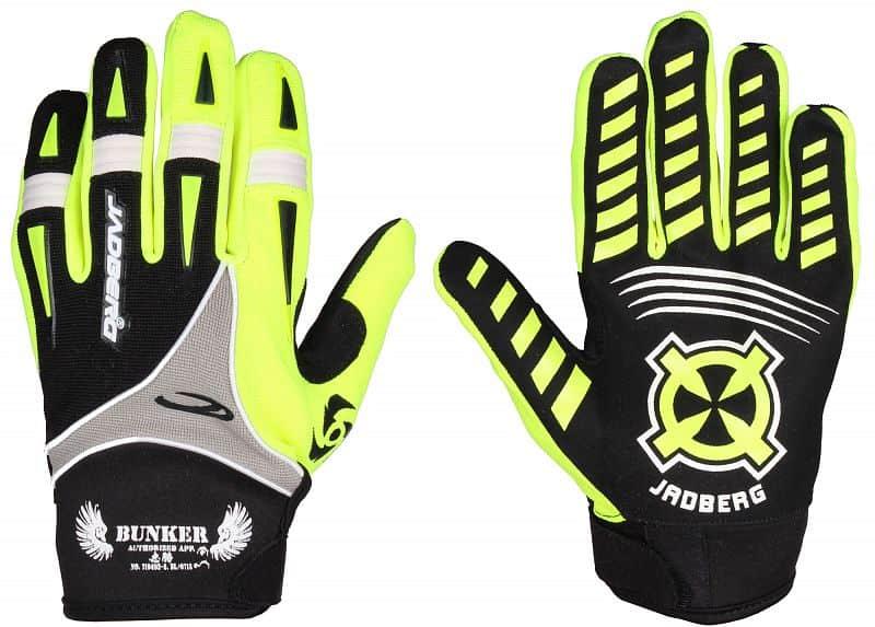 Bunker Gloves 2 brankářské florbalové rukavice XS;černá-zelená