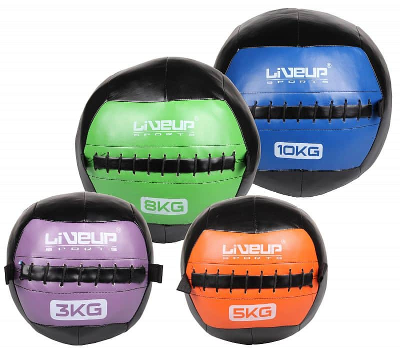 Wall Ball posilovací míč, kožený