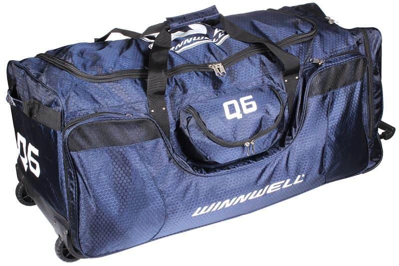 Q6 Wheel Bag hokejová taška na kolečkách junior;černá-zlatá
