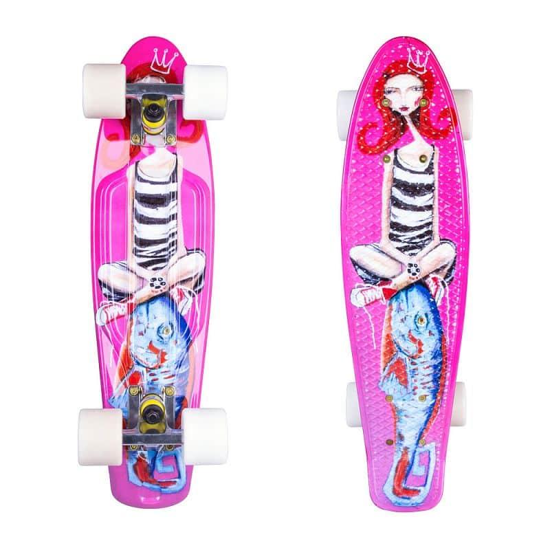 "Penny board ArtFish Girl 22"""