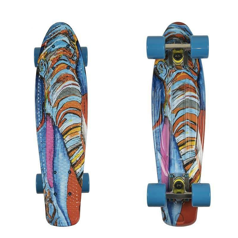 "Penny board ArtFish Elephant 22"""