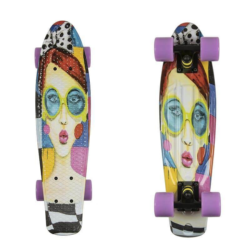 """Penny board ArtFish Face 22"""""""