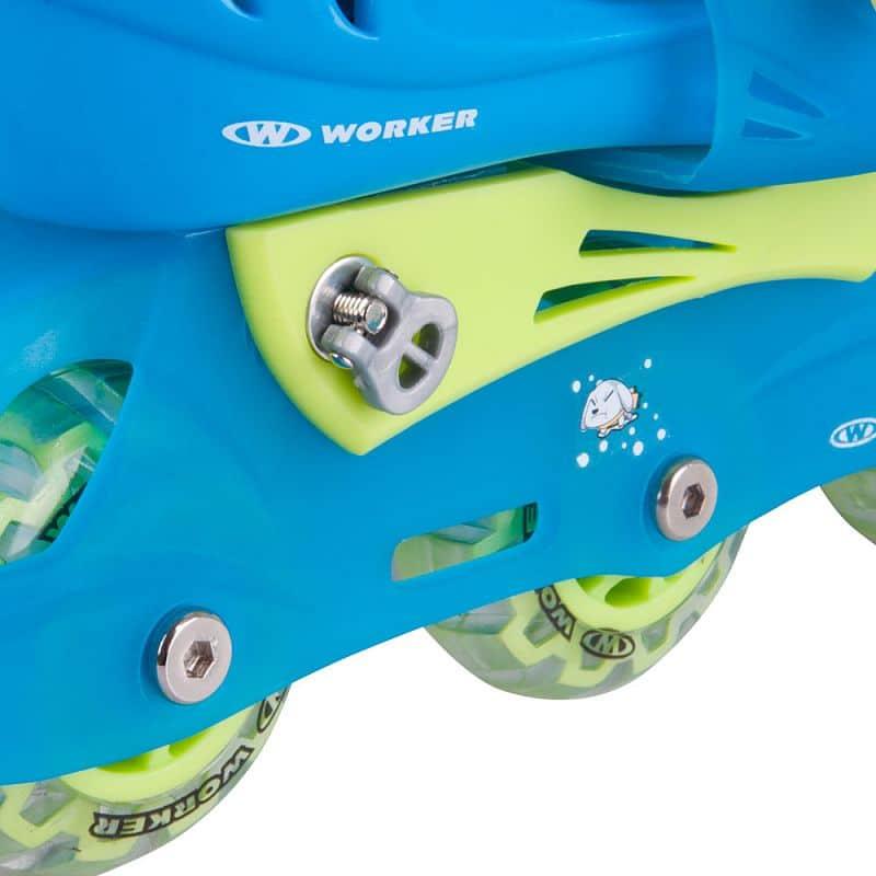 d8c9f7195 ... Detské kolieskové korčule WORKER TriGo Skate LED - so sv. kolieskami