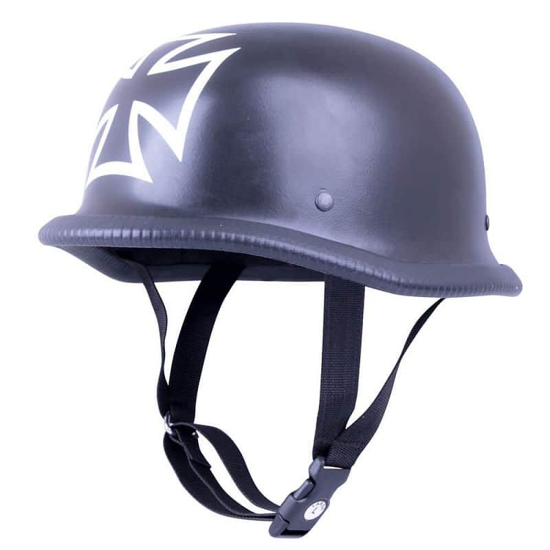 Retro otevřená moto helma Sodager Iron Cross Velikost L (59-60)
