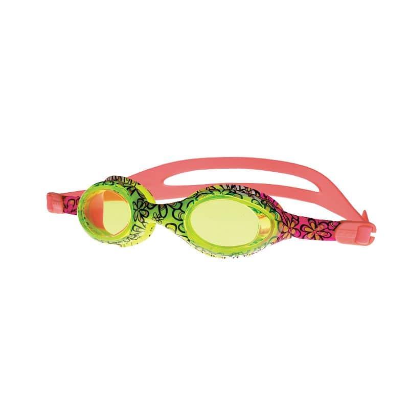 BARBUS Plavecké brýle růžové s potiskem kytiček