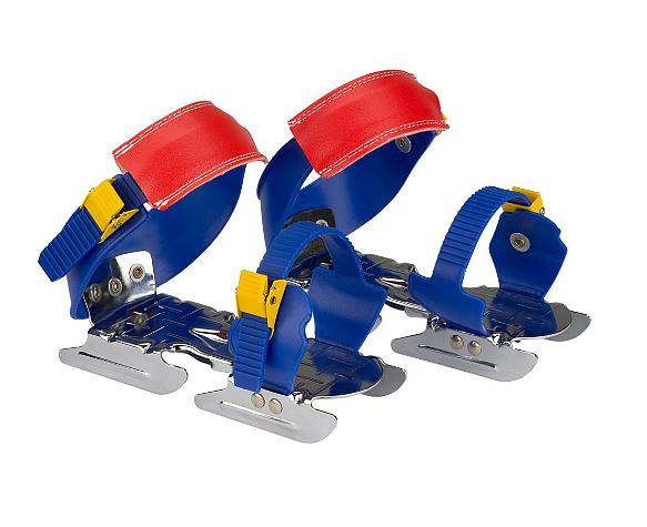 Dětské brusle kačenky NIJDAM - Modro-červeno-žlutá