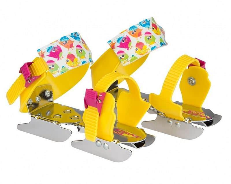 Dětské brusle kačenky NIJDAM - Žluto-růžová
