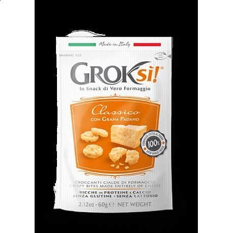 GROKSI křupavý snack ze zralého italského sýru 15g Classico 15g