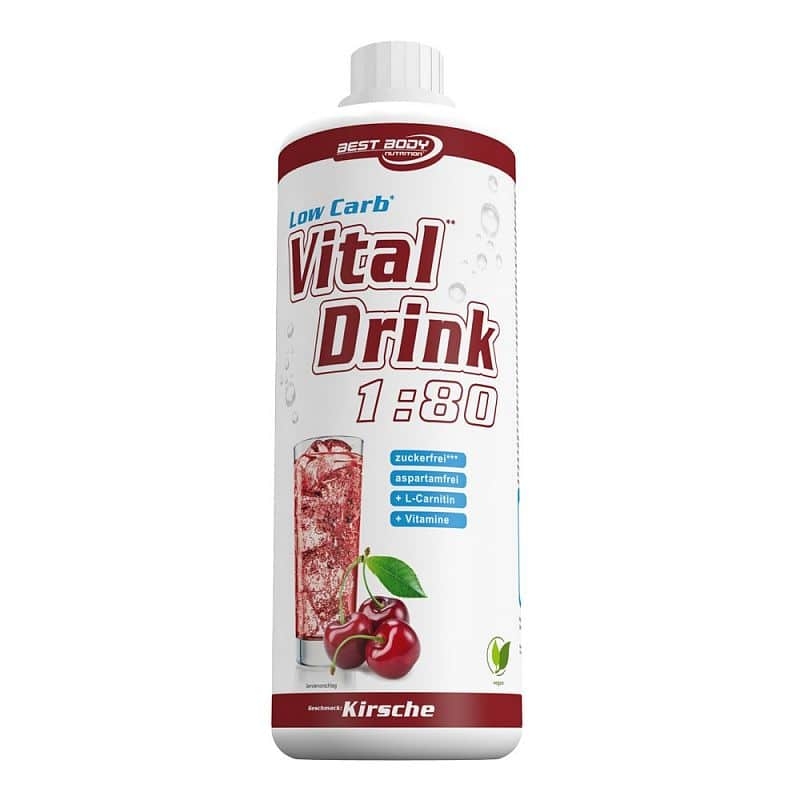 Best Body Nutrition Low Carb Vital Drink 1:80 jahoda
