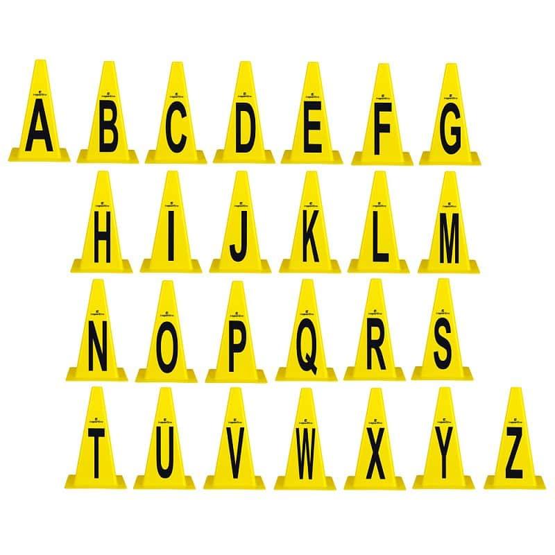 Levně Plastové kužely inSPORTline Alphabet 23 cm