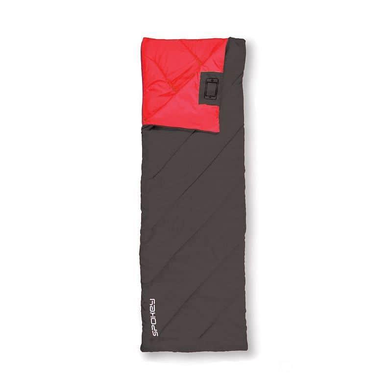 MUFF II Spací pytel deka, černý, pravé zapínání