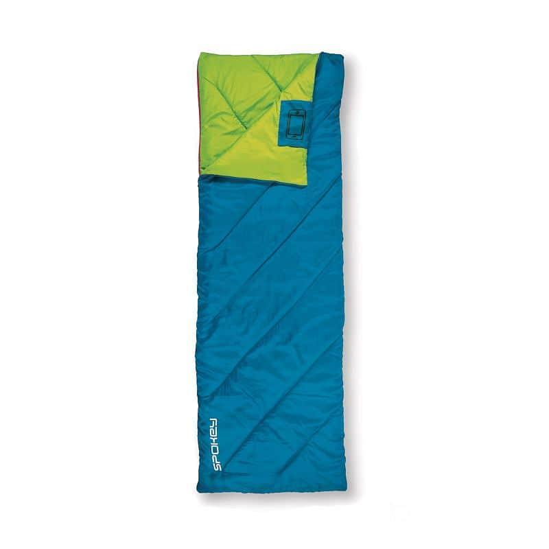 MUFF II Spací pytel deka, modrý, pravé zapínání