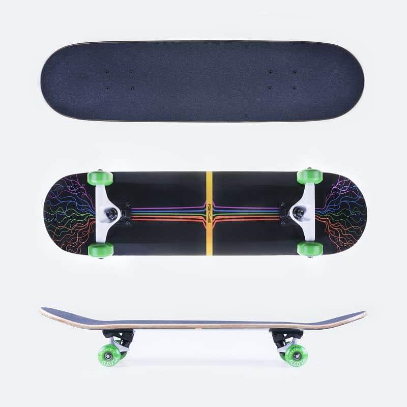 FLOYD Skateboard 80 x 19,7 cm, ABEC 5 carbon