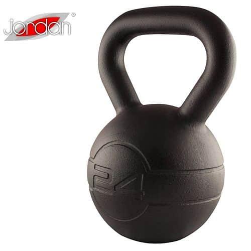 Litinový kettlebell JORDAN Fitness Cast Iron 24 kg