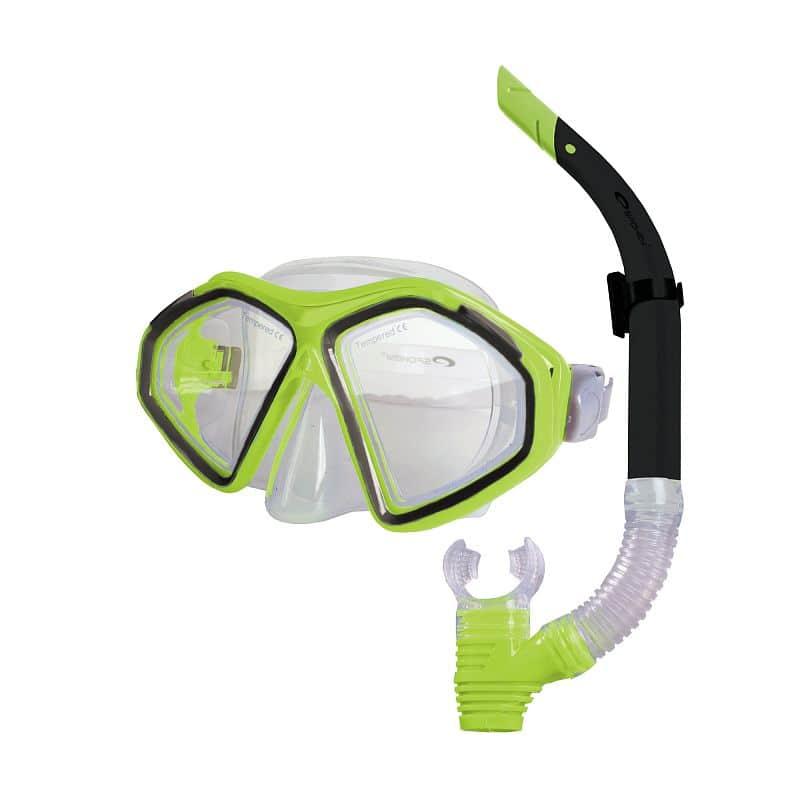 KRAKEN II Sada brýle + šnorchl limeta