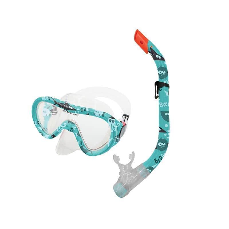 TAHITI JUNIOR-Sada brýle+šnorchl modrý vodní svět