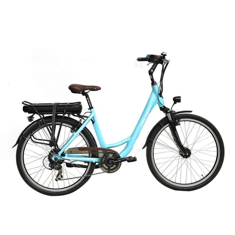 """Městské elektrokolo Devron 26122 - model 2016 Barva Baby Blue, Velikost rámu 18"""" - montáž zdarma, servis u zákazníka"""
