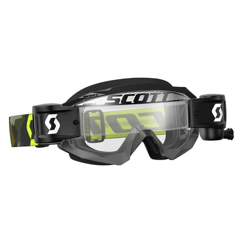 Moto brýle SCOTT Hustle MXVII WFS Barva grey-fluo yellow-clear