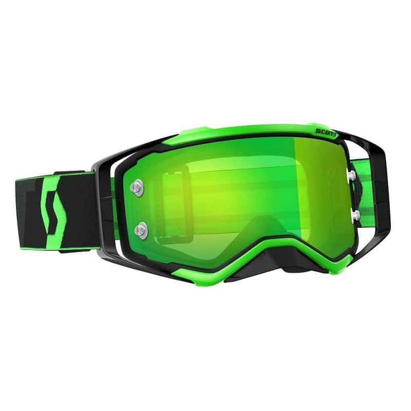 Moto brýle SCOTT Prospect MXVII Barva black-fluo green-green chrome