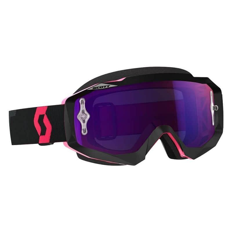Moto brýle SCOTT Hustle MX CH MXVII Barva black-fluo pink-purple chrome