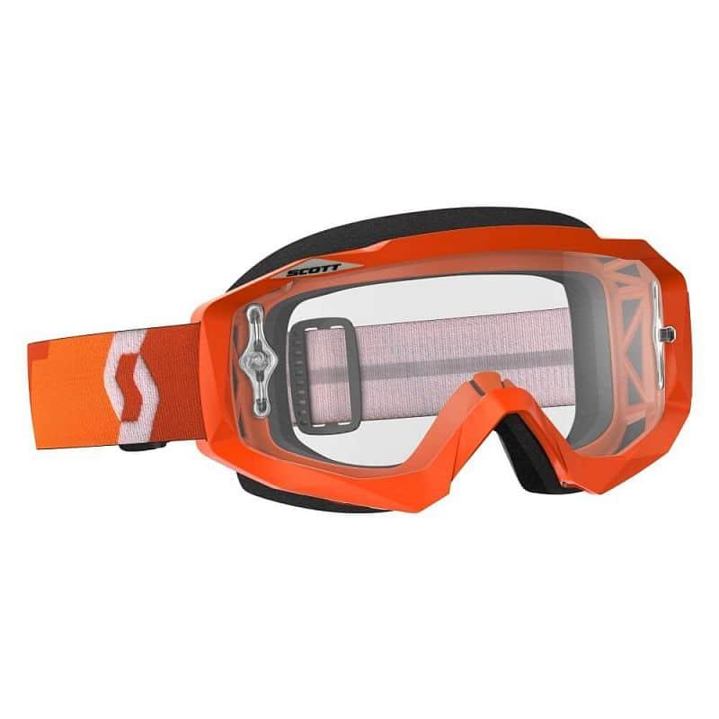 Moto brýle SCOTT Hustle MXVII Clear Barva Orange