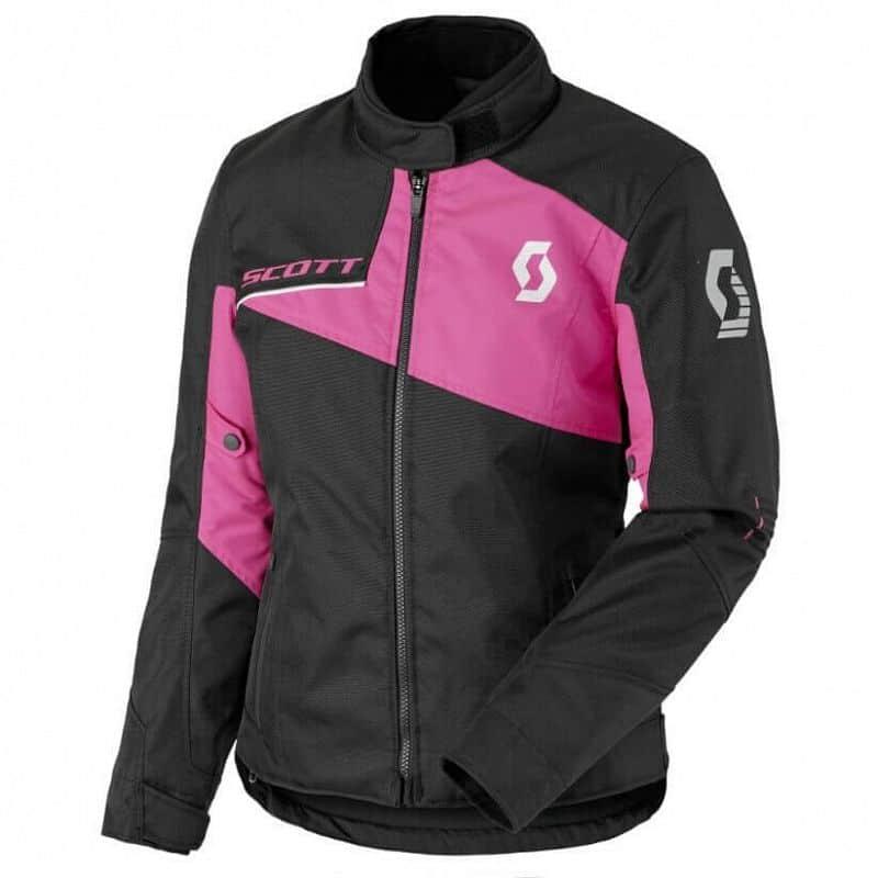 Dámská moto bunda SCOTT W's Sport Pro DP MXVII Barva Black-Neon Pink, Velikost M (36)