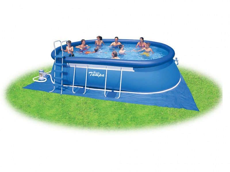 Bazén Tampa ovál 3,05x5,49x1,07m kompl.+KF