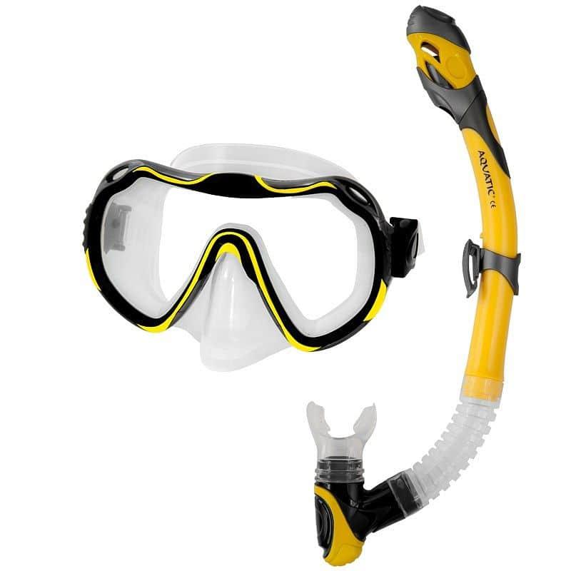 Java+Elba potápěčský set barva: žlutá