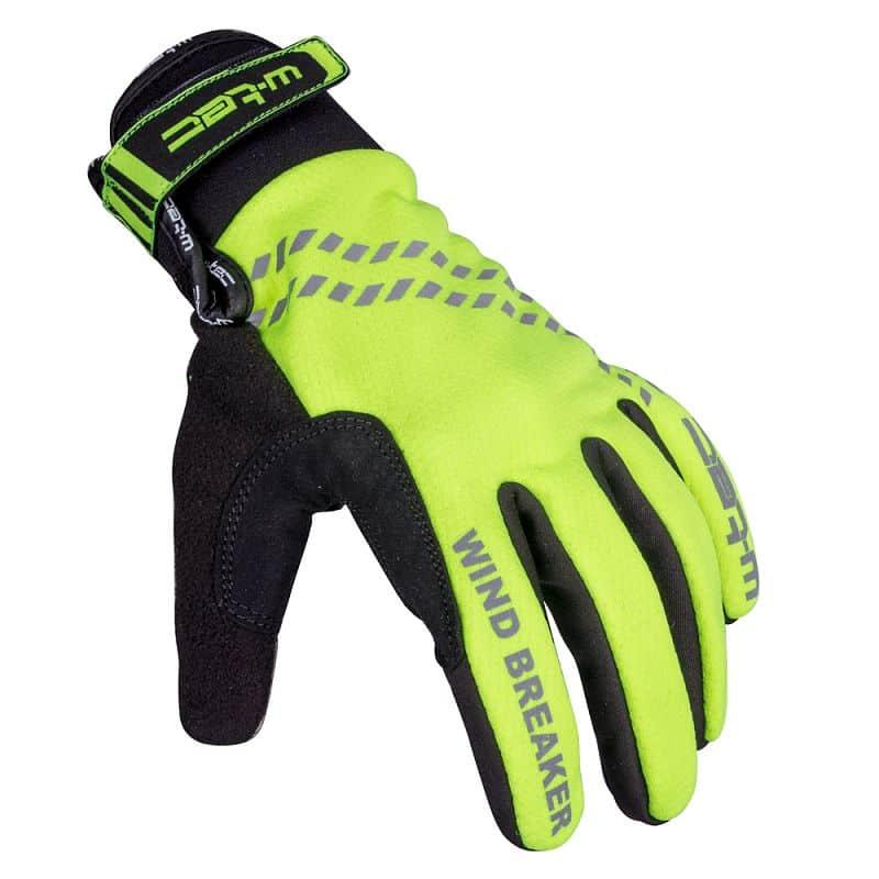 Zimní cyklo a běžecké rukavice W-TEC Trulant B-6013 Barva žlutá, Velikost XS